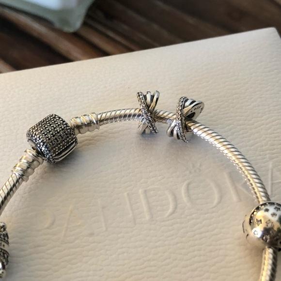 7d37a071d Pandora Jewelry | 2 Galaxy Spacers Clear Cz New | Poshmark